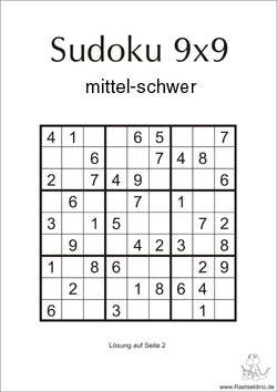 Sudoku mittel schwer zum Ausdrucken