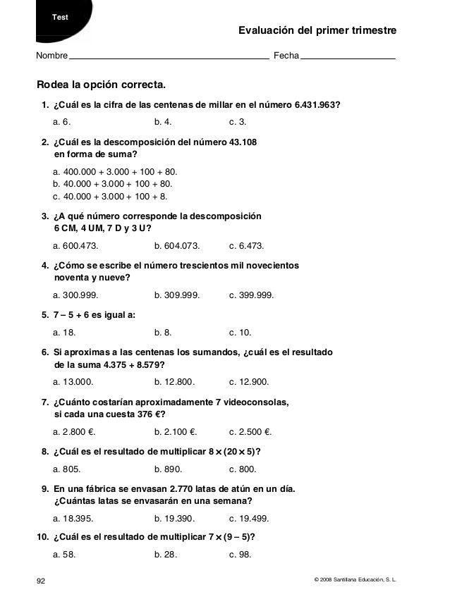 La Casa Del Saber 4º Matematicas Ayla2009