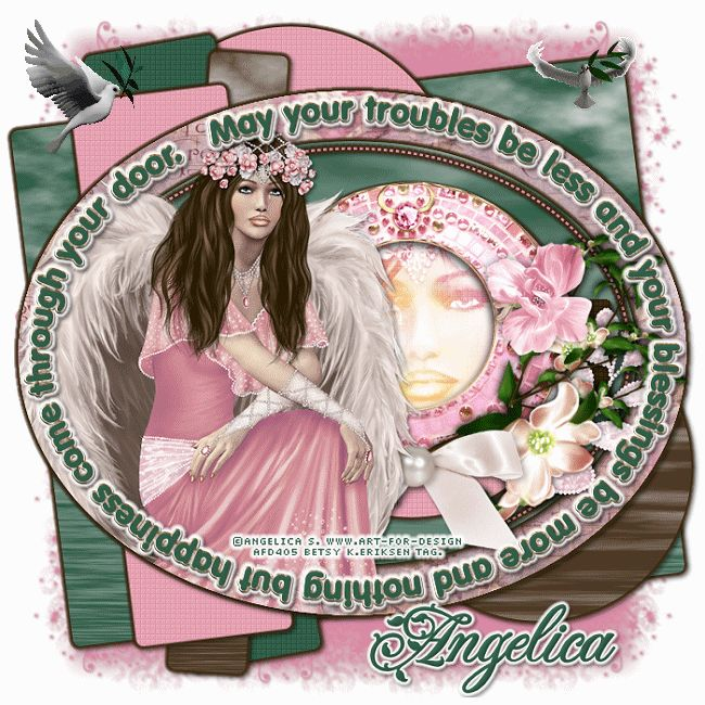 Betsy's Paradise Dreamer: Angelica S.AURELIA Angel-Dee-Blessings-tempate