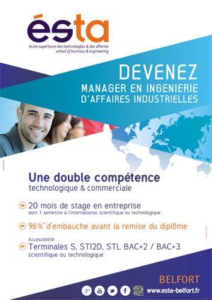 ESTA - Belfort  Affiche, brochure, kakémonos... Communication Print réalisée par notre agence.