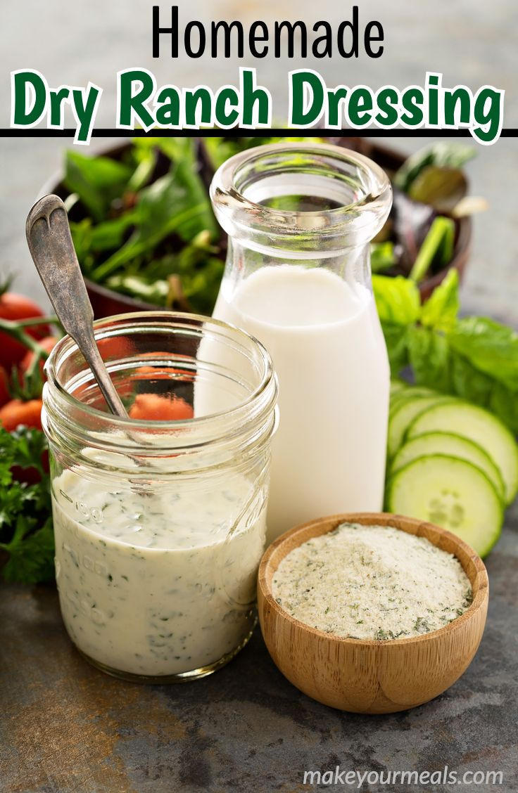 Homemade Dry Ranch Dressing Mix In 2020 Ranch Dressing Ranch Dressing Mix Recipe Homemade Dry Ranch Dressing Mix