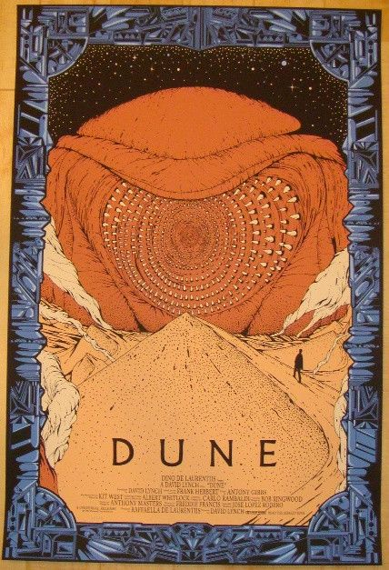 "2012 ""Dune"" - Silkscreen Movie Poster by Killian Eng"