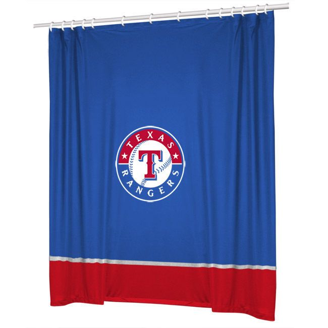 Texas Rangers COMBO Shower Curtain & 4 Pc Towel Set - Bathroom Decor