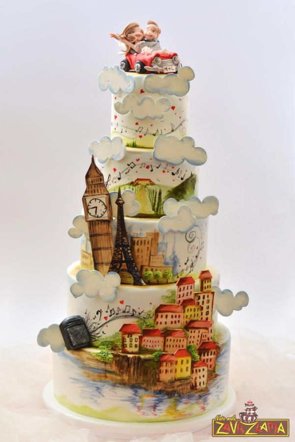 Love Is All Around The World by Nasa Mala Zavrzlama - http://cakesdecor.com/cakes/212097-love-is-all-around-the-world