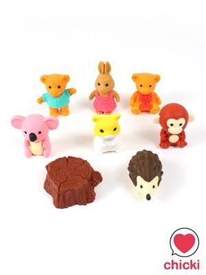 Cute Animals Eraser Set by Iwako - Iwako - Iwako Kawaii Animals Erasers - Chicki - Kawaii wonderland. Cute fashion accessories and gift store ----====++++====----