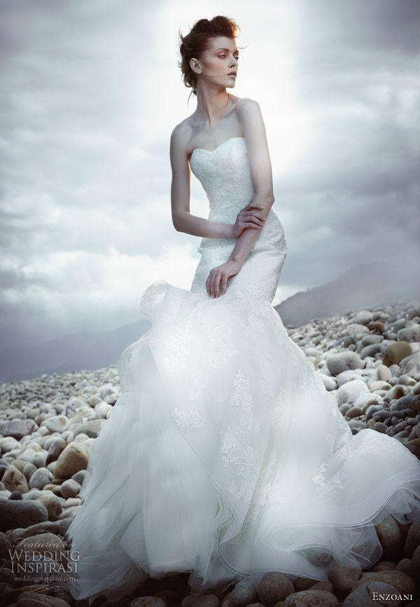 enzoani 2013 hea strapless wedding dress