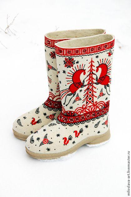 """Обувь ручной работы. Ярмарка Мастеров - ручная работа Валенки """"Мезень"""". Handmade."""