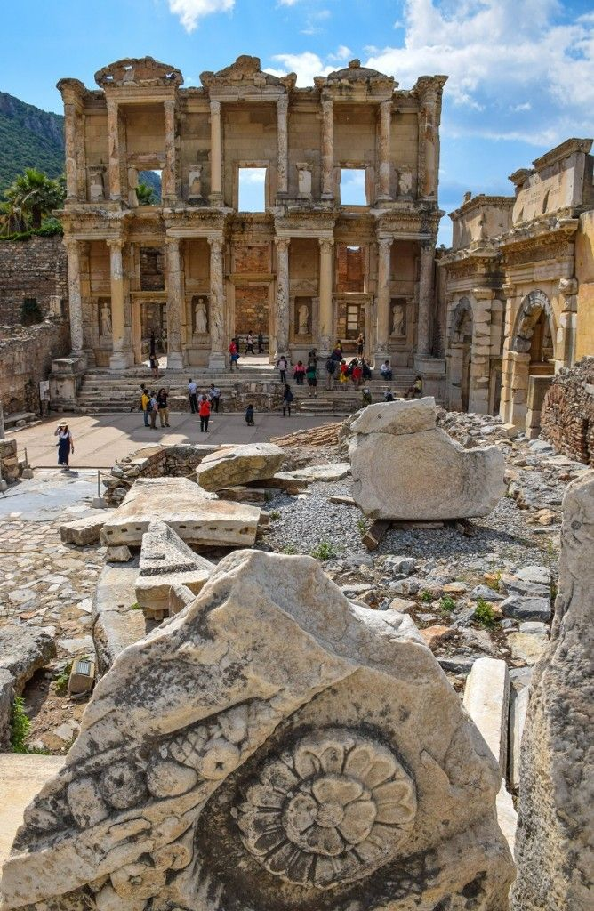 This ancient city is an amazing place to explore for a day...the Library of Celsus, Ephesus Turkey