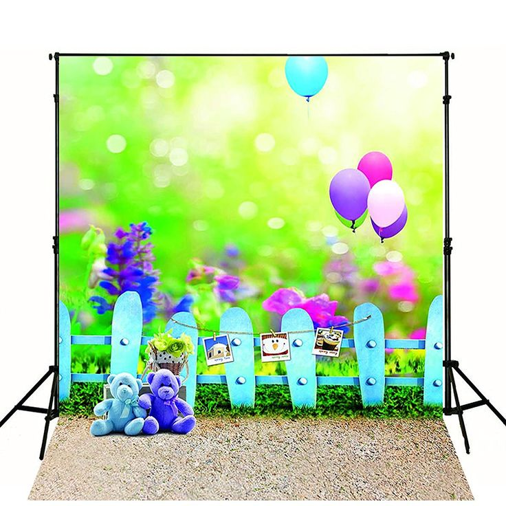 Amazon.com : 5x7ft Kate Green Photography Backdrops Cute Bear Red Balloon Background for Children Photo Pops : Camera & Photo
