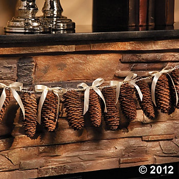 Pinecone Garland...maybe dipped in some Epsom salts for snowy look ??