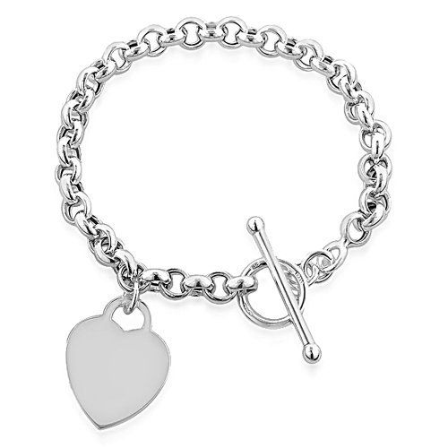 Designer Inspired Heart Pendant Toggle T Bar Bracelet Sterling Silver 925 Plated 20cm Well Present Silver Heart Pendant Bracelet Perfect For Any Occasion.Ideal Gift for Any WomanSolid Sterling Silver 925 PlatedComes With Free Luxury Velvet Gift BagPerfect for Birthdays, Bridesmaids, Christmas, Valentines, Mothers DayGet 10% off when you purchase 2 Designer Inspired Items. 15% off when you purchase 3.  bracelets, Earrings, Jewelry, necklaces, pendants, Rings