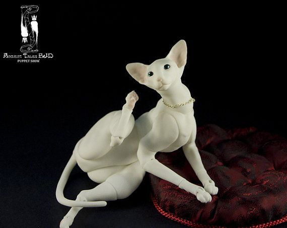 BJD Doll Oriental cat. Ball jointed doll. Pet. OOAK