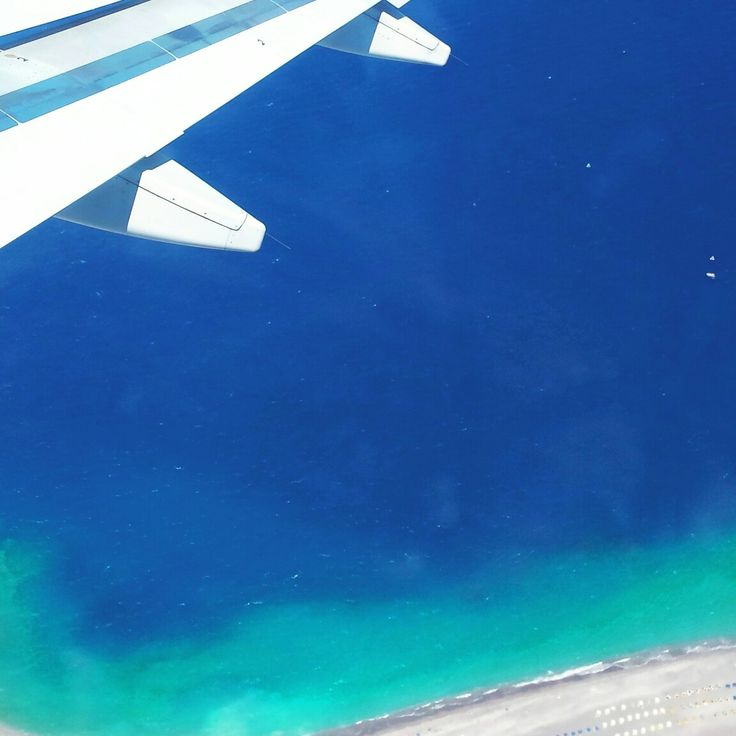 Airplane view. Summer In Greece.