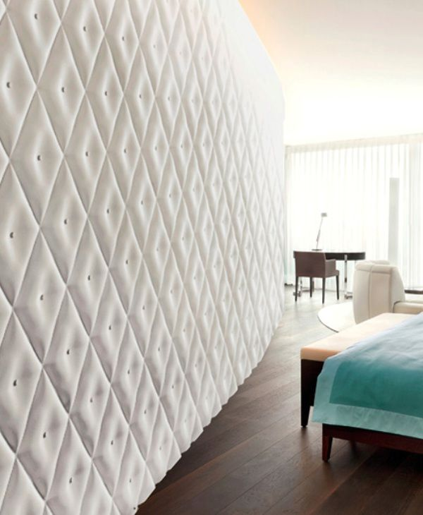 Wall Covering For Bedroom 😍 Surface Wall Panel; White Capitonne Effect  Surface. Effect Wall Panels By Surface