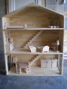 Incroyable site avec plans pour maisons de poupée barbie/mobilier/ mais aussi du mobilier pour enfants et cabane dans les arbres ! travail et résultat de grande qualité !!!!