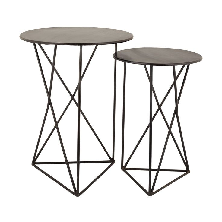 LS Dimond Home Geometric Metal Accent Tables - Overstock Shopping - Great Deals on ELK LIGHTING Coffee, Sofa & End Tables