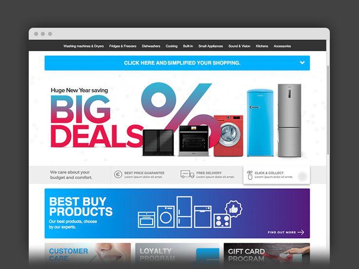 Home appliances web shop