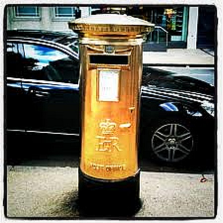 As well as producing stamps for all Team GB's gold medal winners, the Royal Mail is also honouring the Olympic champions with the ultimate accolade, a golden post box in their hometown.    For every gold medal won by Team GB, a post box will be painted gold in the home town of the athlete the very next day.