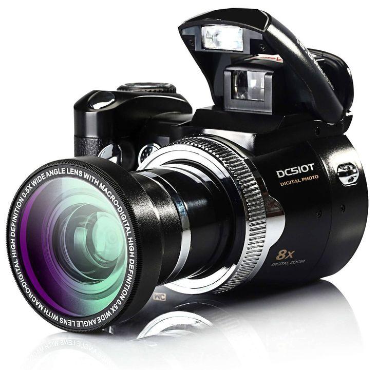 HD 16 Mega píxeles cámara de vídeo digital/Cámara RÉFLEX DIGITAL con 2.4 ''TFT pantalla y intercambiables lente envío gratis