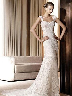 bride's dress: Lace Weddings, Ideas, Wedding Dressses, White Wedding Dresses, Lace Wedding Dresses, Dresses Style, Bridesmaid Dresses, Gowns, Cap Sleeve