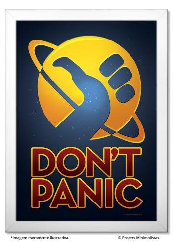 Don't Panic - Posters Minimalistas