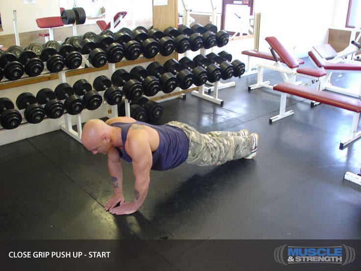 Triceps 4 ----- Close Grip Push Up Video Exercise Guide & Tips | Muscle & Strength