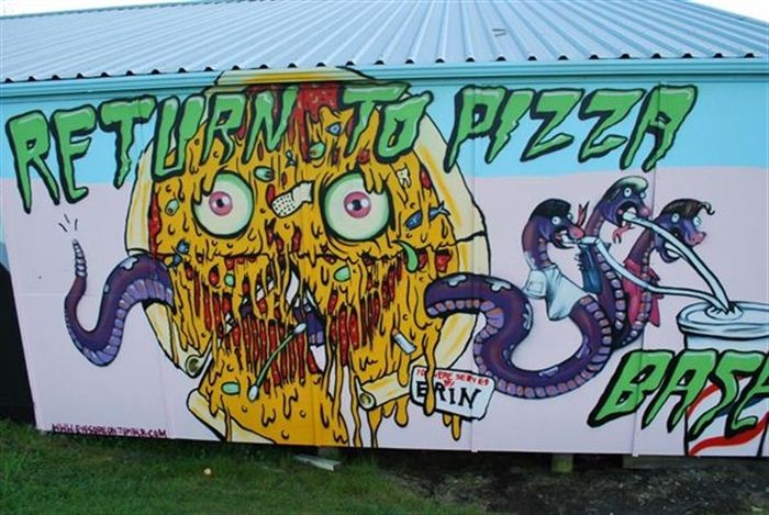 Taupo: Graffiato Festival 2012, Return to Pizza Base, by Erin Forsyth