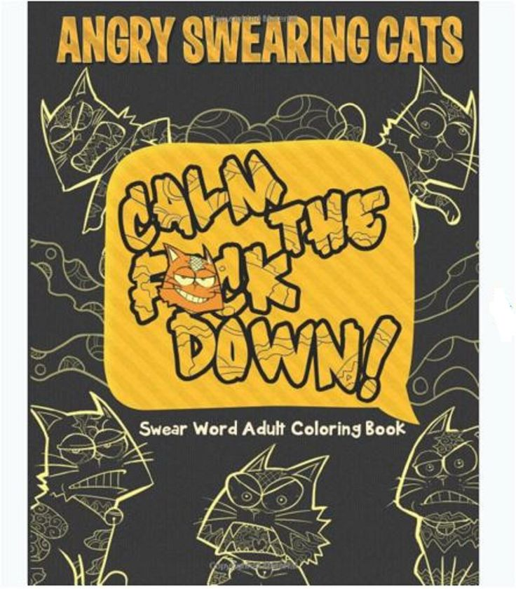 Adult Coloring Book Swear Word Design Cats Stress Relief Patterns Relaxing Fun