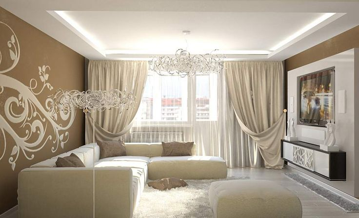 Дизайн квартир в бежево-коричневых тонах