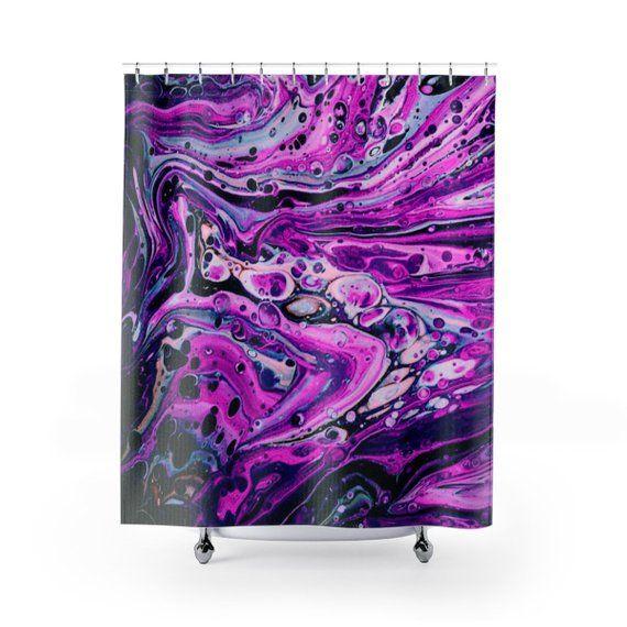 Shower Curtains Colorful Decor Bathroom Abstract Art Purple