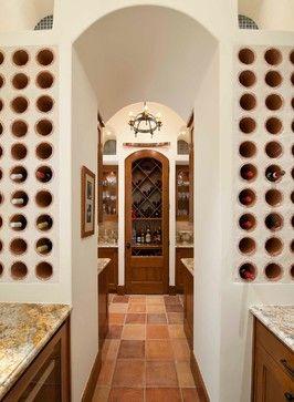 Classically Spanish - mediterranean - Wine Cellar - Dallas - Astleford Interiors, Inc.