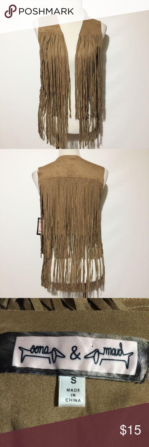 OONA & MAUD FRINGE VEST NWT oona & maud Jackets & Coats Vests