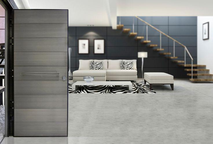 ΠΟΡΤΕΣ ΑΣΦΑΛΕΙΑΣ Golden Door :: Νέο Design :: Πόρτα ασφαλείας με επένδυση από ανοδιωμένες φάσες αλουμινίου