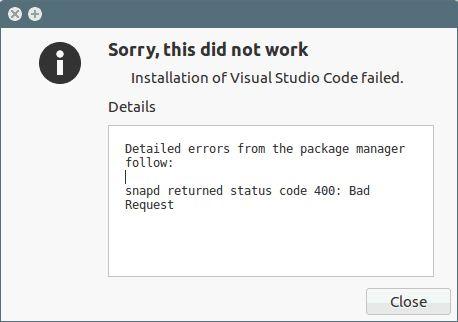 Get Rid of snapd returned status code 400: Bad Request Error in Ubuntu