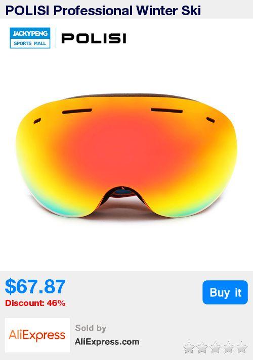 POLISI Professional Winter Ski Goggles Men Women UV400 Snowboard Glasses Big Spheral Double Layer Anti-Fog Lens Skiing Eyewear * Pub Date: 11:36 Jul 3 2017
