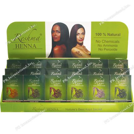 Reshma Henna Hair Color 100% Natural 18ea/ds 18ea/ds  PK-RES00316D