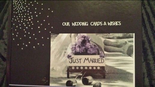 Took pics of all our wedding cards. Now I've got them forever
