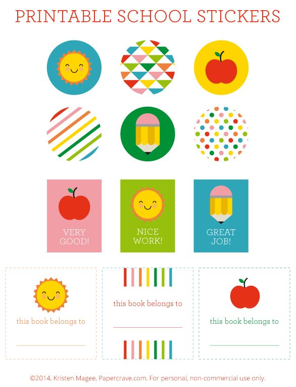 FREE Printable Back to School Stickers + Bookplates | Paper Crave From Livinglocurto