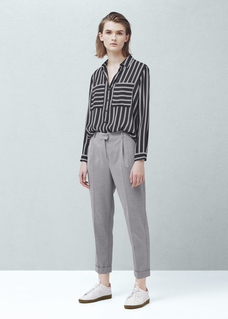 Pleated suit trousers   MANGO