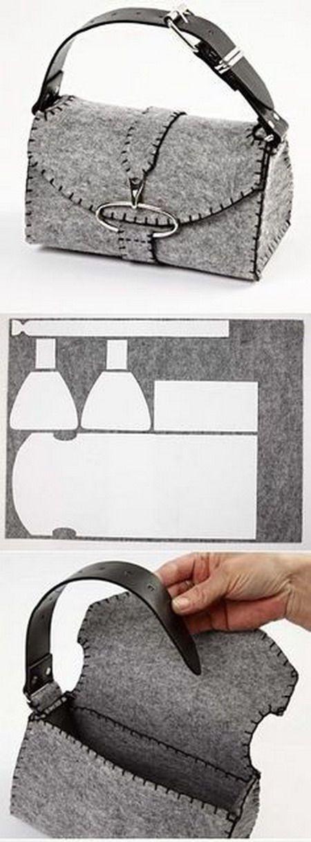 DIY bolso de fieltro