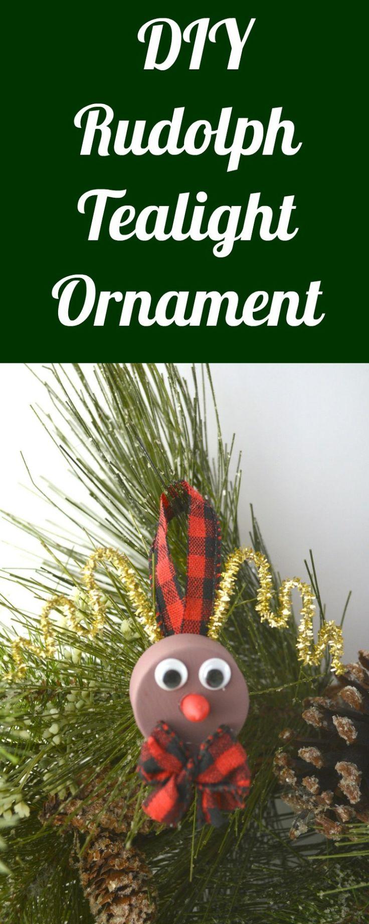 DIY Rudolph Tealight Ornament Fun holiday crafts