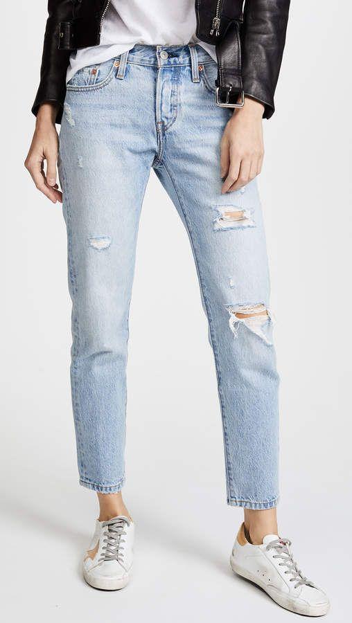 31524a6e Levi's 501 Tapered Jeans #levis #denim #favorite #boyfriendjean  #saltylashes #blog #instagram #blogger #shopbop #sale