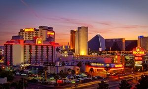 Groupon - Stay with Gambling Credit and Appetizer at Hooters Casino Hotel in Las Vegas. Dates into October. in Vegas Strip. Groupon deal price: $22