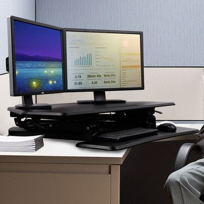 "Flexispot 20"" x 41"" Desk Riser Finish: Black"