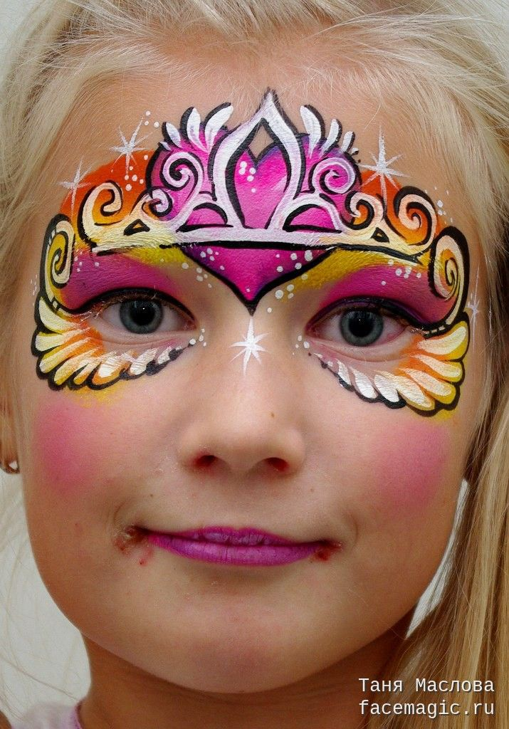 Princess. Face paint by Tanya Maslova.