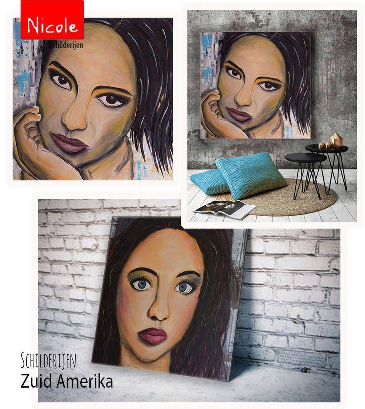 Schilderijen van Zuid Amerikaanse (jonge) vrouwen