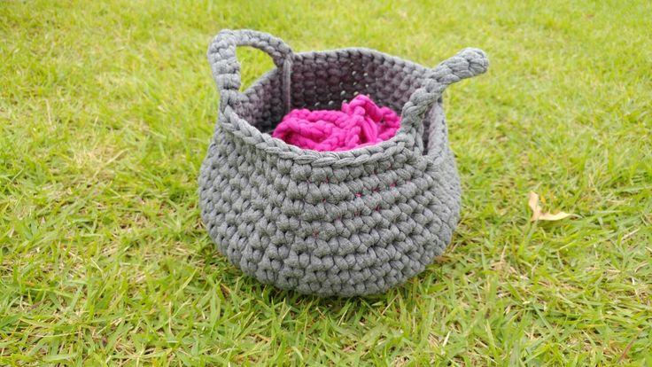 My first crochet basket