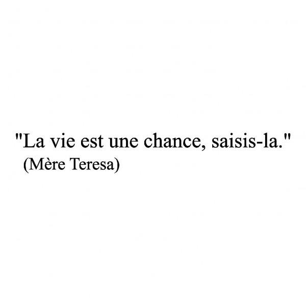 Mère Teresa  ~ citation français ~