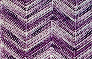 Twilight Chevron Afghan | AllFreeCrochetAfghanPatterns.com