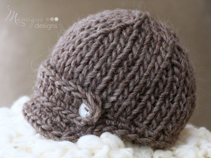 Knitting Pattern For Baby Hat With Brim : 234 best images about knit inspiration on Pinterest